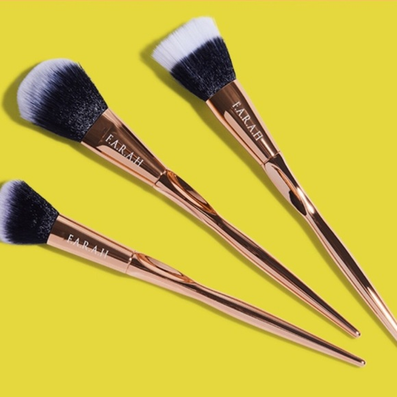 Sephora Other - F.A.R.A.H BRUSHES Gold Face Brush Set